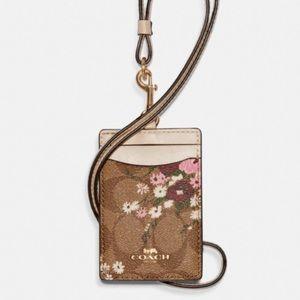 Coach Lanyard ID holder - evergreen floral